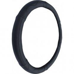 Potah na volant kožený 37-39 cm - černý