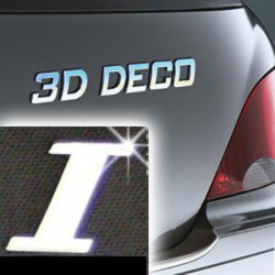 Písmeno samolepící chromové 3D-Deco - I