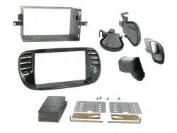 2DIN redukce pro Fiat 500 06/2007- černá lesklá