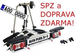 Nosič kol Wjenzek ALFA 3+1 PLUS na tažné zařízení DOPRAVA A SPZ ZDARMA