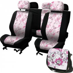 Autopotahy na celé vozidlo - LadyLine - Pink Flower