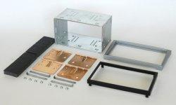 2DIN redukce pro Opel Signum 05-/ Vectra C stříbrná