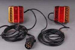 LED světla s elektrokabeláží k vleku 7pin/4m s magnetickým uchycením