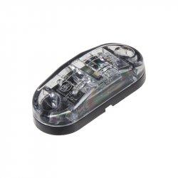 Přední obrysové světlo LED, bílý ovál, homologace
