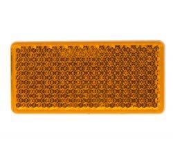 Boční (oranžový) odrazový element - obdélník 95 x 45mm nalepovací