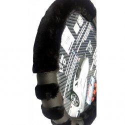 Potah na volant Paw černý ( 37-39 cm)