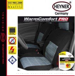 Vyhřívaný potah HEYNER PREMIUM carbon - na celé sedadlo s potahem na volant - černý