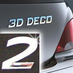 Písmeno samolepící chromové 3D-Deco - 2