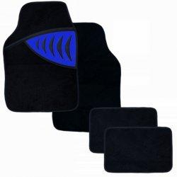 Autokoberce textilní - SHARK, modré