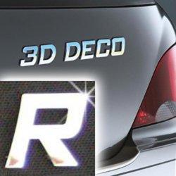 Písmeno samolepící chromové 3D-Deco - R