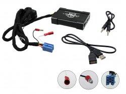 Adaptér pro ovládání USB zařízení OEM rádiem VW, Škoda, Seat ISO/AUX vstup