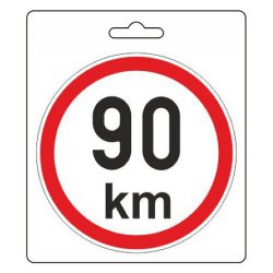 Samolepka omezená rychlost 90km/h (110 mm)