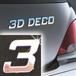 Písmeno samolepící chromové 3D-Deco - 3