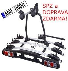 Nosič kol na tažné zařízení DOLPHIN TÜV - 3 kola DOPRAVA a SPZ ZDARMA!