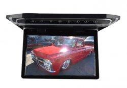 """Stropní LCD monitor 10,1"""" černý s HDMI/microSD,IR,FM, ultra tenký"""