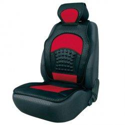 Potah na sedadlo černá/červená