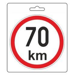 Samolepka omezená rychlost 70km/h (110 mm)