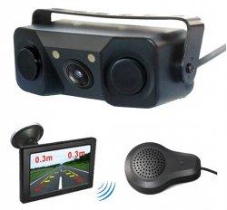 """Bezdrátový LCD monitor 4,3"""" s kamerou a parkovací čidlem"""