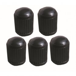 Čepičky na ventilky černé 5ks