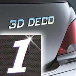 Písmeno samolepící chromové 3D-Deco - 1